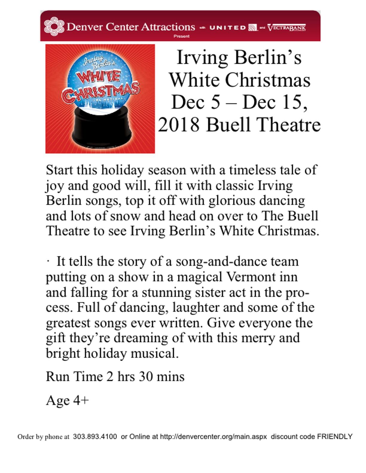 White Christmas | DENVER MAINLINER CLUB